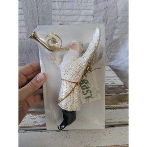 Dept 56 trumpet father frost Santa ornament Xmas h
